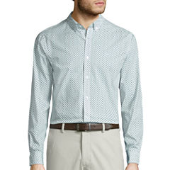 Dockers Long Sleeve Poplin Button-Front Shirt