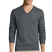 Claiborne® Long-Sleeve Thermolite V-Neck Sweater