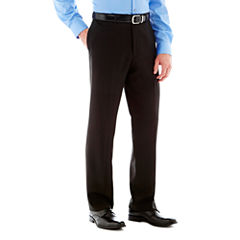 Savane® Flat-Front Crosshatch Dress Pants