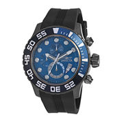 Invicta® Pro Diver Mens Blue Dial Black Silicone Strap Chronograph Sport Watch 19248