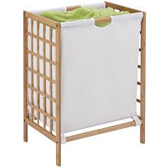 Honey-Can-Do® Bamboo Grid-Frame Hamper