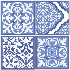 Thirstystone® Scrollwork Set of 4 Stoneware Coasters