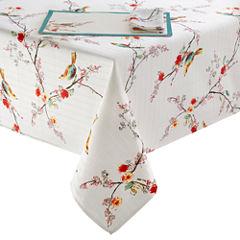Lenox Chirp Bird Pattern Microfiber Table Linen Collection