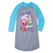 Shopkins Girls Long Sleeve Nightgown-Big Kid