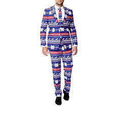 Holiday Blue Reindeer OppoSuits 3-pc. Suit- Slim Fit