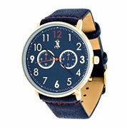 Brooklyn Exchange Mens Blue Strap Watch-Nwl400106g-Bl