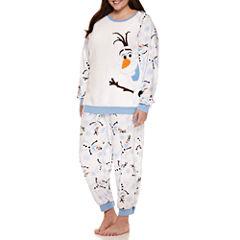 Disney Fleece Pant Pajama Set-Juniors Plus
