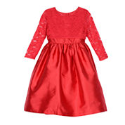 Marmellata Elbow Sleeve Party Dress - Big Kid
