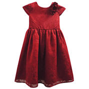 Marmellata Short Sleeve Cap Sleeve Party Dress - Big Kid