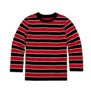 Okie Dokie® Long-Sleeve Striped Tee - Toddler Boys 2T-5T