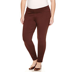 St. John's Bay Solid Knit Leggings-Plus