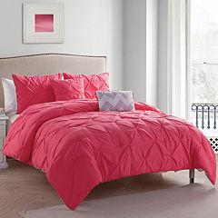 VCNY Jana Chevron Pintuck Reversible Comforter Set