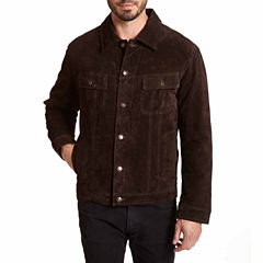 EXCELLED MENS SUEDED JEAN JACKET