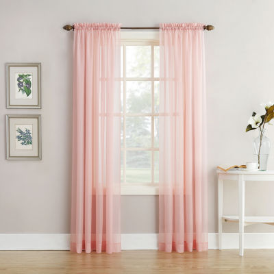 home expressions jacqueline rodpocket sheer panel pair