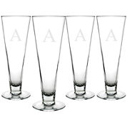 Cathy's Concepts Set of 4 Personalized Classic Pilsner Glasses