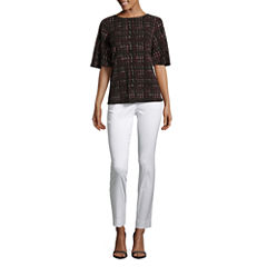 Worthington Short Bell Sleeve Top and Slim Fit Ankle Pants