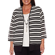 Alfred Dunner Wrap It Up 3/4 Sleeve Layered Top Plus