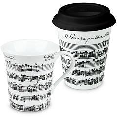 Konitz Vivaldi Libretto 2-pc. Stay/Go Mug Set