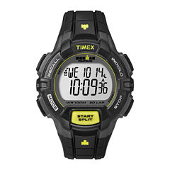 Timex® Ironman Rugged Mens Black Resin Strap 30-Lap Watch T5K7909J