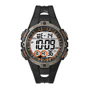 Marathon by Timex® Mens Black Resin Strap Digital Watch T5K801M6