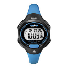 Timex® Womens Blue Resin Strap 10-Lap Watch T5K5269J