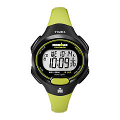 Timex® Womens Green Resin Strap 10-Lap Watch T5K5279J