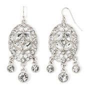 Liz Claiborne® Crystal-Accent Silver-Tone Chandelier Earrings