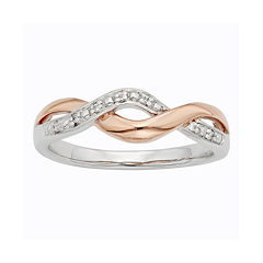 Diamond-Accent Two-Tone Infinity Promise Ring