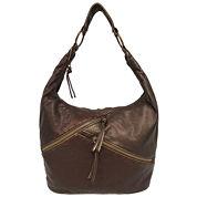 St. John`s Bay Diagonal Zip Hobo Bag