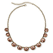 Arizona Peach Crystal Link Necklace