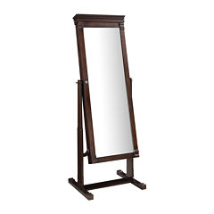 Linon Home Décor Angela Cheval Mirror Jewelry Armoire