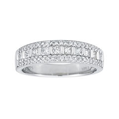 12 ct tw certified diamond 14k white gold princess cut band - Jcpenney Rings Weddings