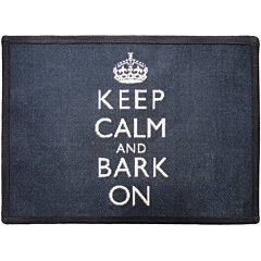 PB Paws by Park B. Smith® Keep Calm and Bark On Tapestry Pet Mat