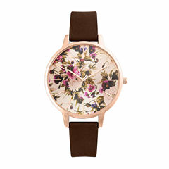 Decree Womens Brown Strap Watch-Pt2607arbr