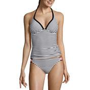 Arizona Mix & Match Stripe Push-Up Tankini Swim Top or Hipster Bottoms - Juniors
