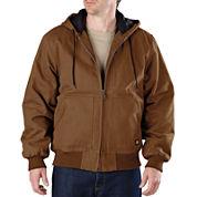 Dickies® Heavy-Duty Sanded Duck Hooded Jacket–Big & Tall
