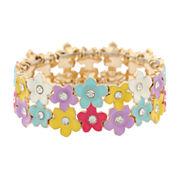 Liz Claiborne Womens Stretch Bracelet Multi And Goldtone