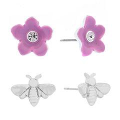Liz Claiborne 2-pc. White Earring Sets