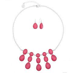 Liz Claiborne Womens 2-pc. Pink Jewelry Set