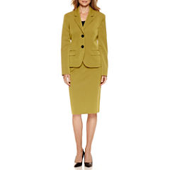 Le Suit® Long Sleeve 2-Button Skirt Suit