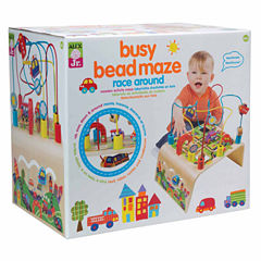 Alex Toys Alex Jr Busy Bead Race Around Wooden Interactive Toy