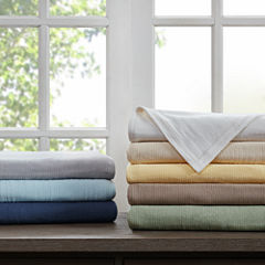 Premier Comfort Freshspun Basketweave Cotton Blanket