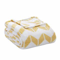 Intelligent Design Chevron Plush Blanket