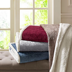 Madison Park Elma Oversized Plush Throw