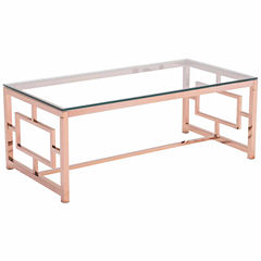 Zuo Modern Geranium Rose Gold Coffee Table