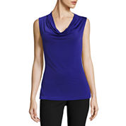 Worthington® Sleeveless Cowlneck Top