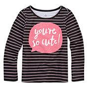 Okie Dokie Girls Graphic T-Shirt-Toddler