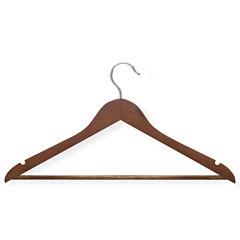 Honey-Can-Do® 8-Pack Cherry Wood Suit Hangers Nonslip Bar