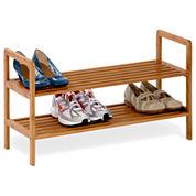 Honey-Can-Do® 2-Tier Bamboo Shoe Shelf
