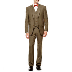 IZOD® Light Brown Sharkskin Suit Separates - Classic Fit